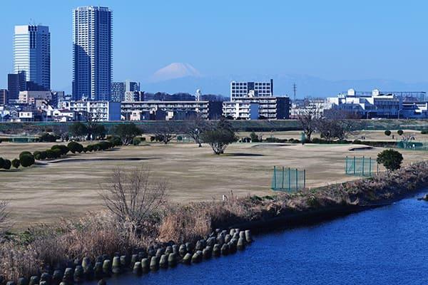 多摩川大橋からの富士山