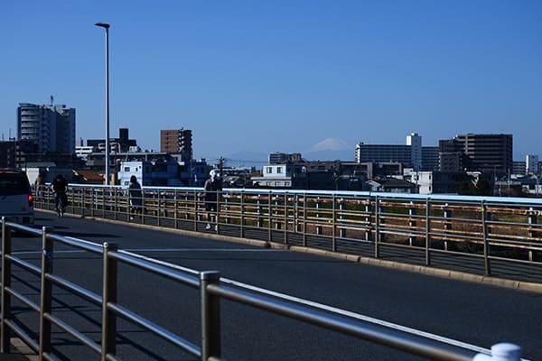 多摩川ガス橋からの富士山
