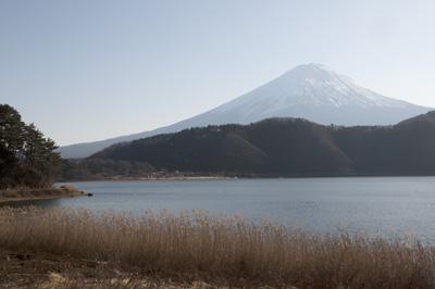 湖北ビューラインより望む富士山