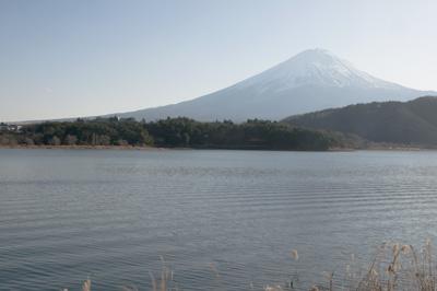 留守が岩西より望む富士山