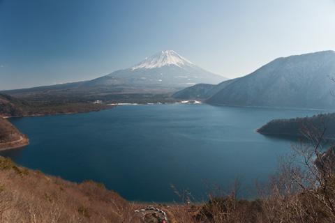 1000円札の富士山と本栖湖