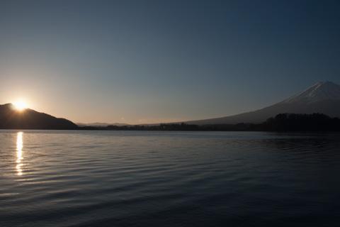 河口湖の初日の出