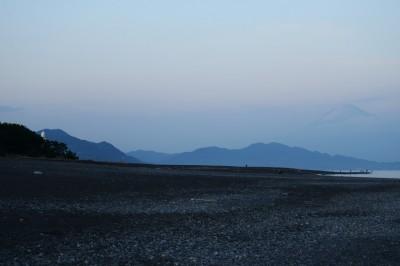 夕霞の富士山
