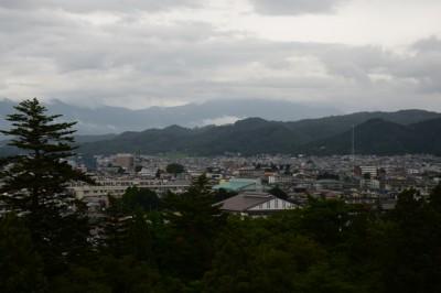 会津若松城天守からの眺め