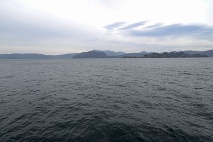 御倉半島と中山半島の見える十和田湖