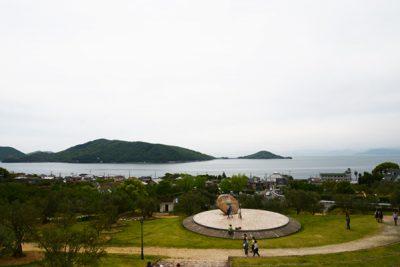 小豆島オリーブ公園からの瀬戸内海の景色