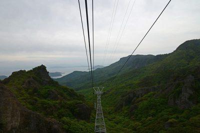 寒霞渓ロープウェイからの眺め